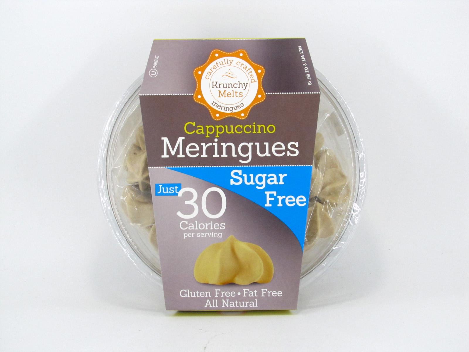 Krunchy Melts Meringues - Cappuccino - front view