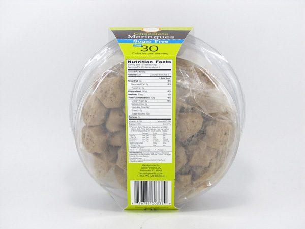 Krunchy Melts Meringues - Chocolate - back view