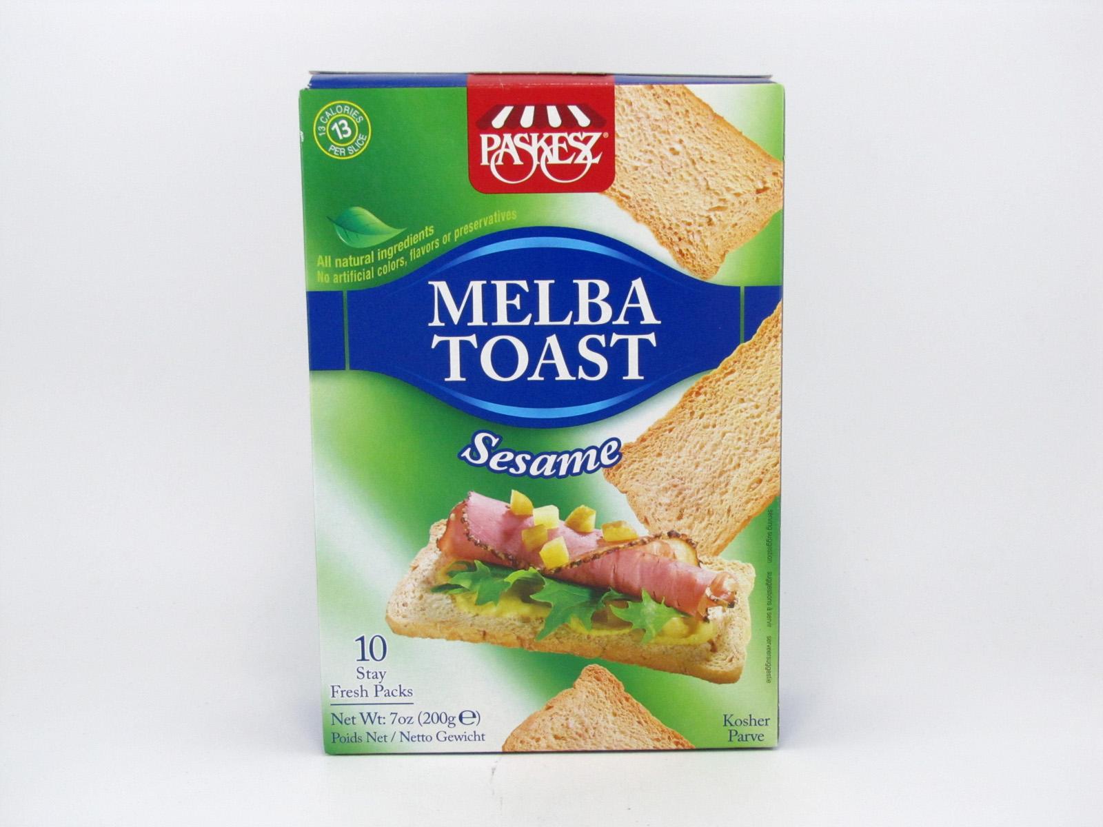 Melba Toast - Sesame - front view