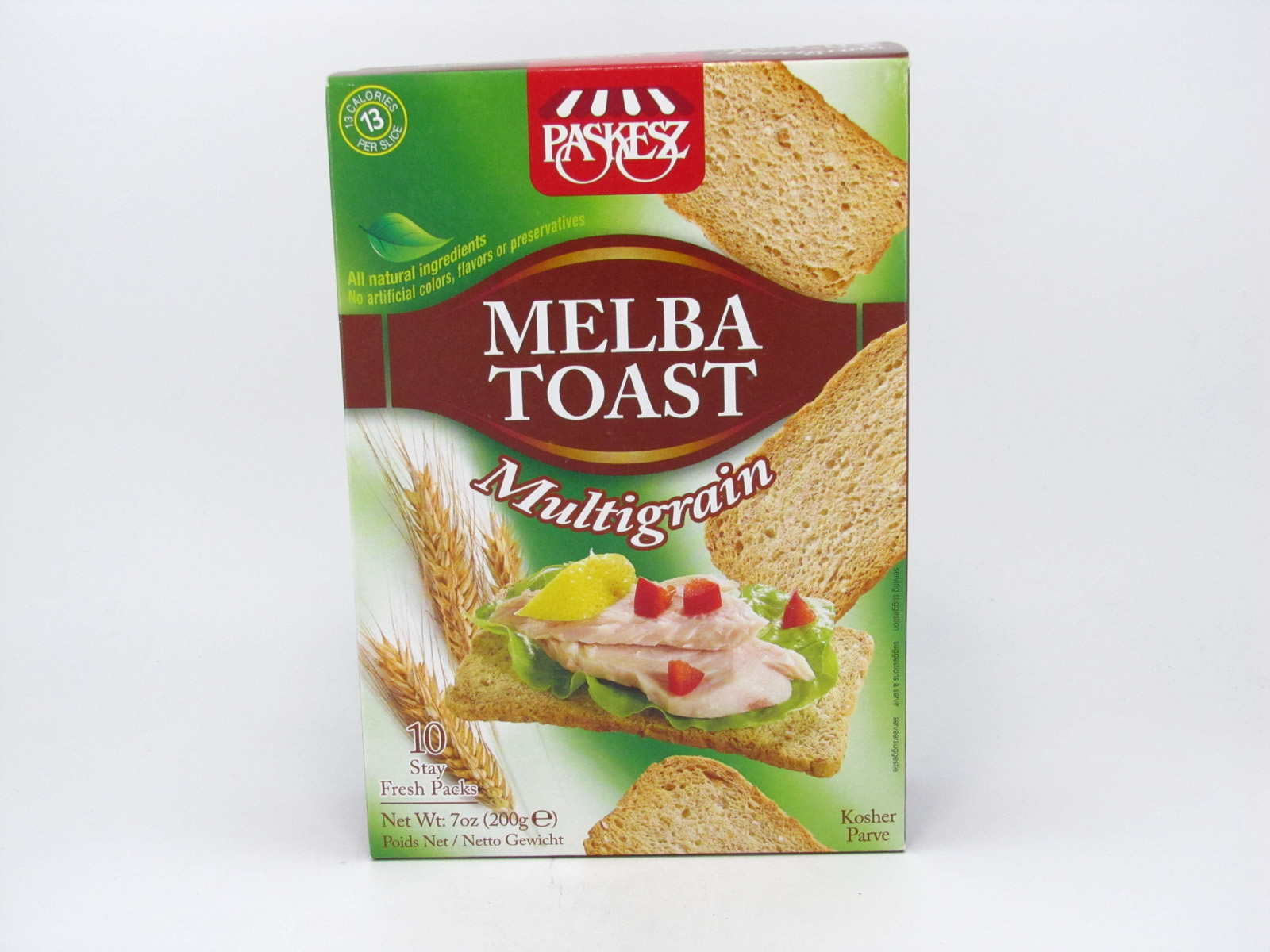 Melba Toast - Multigrain - front view