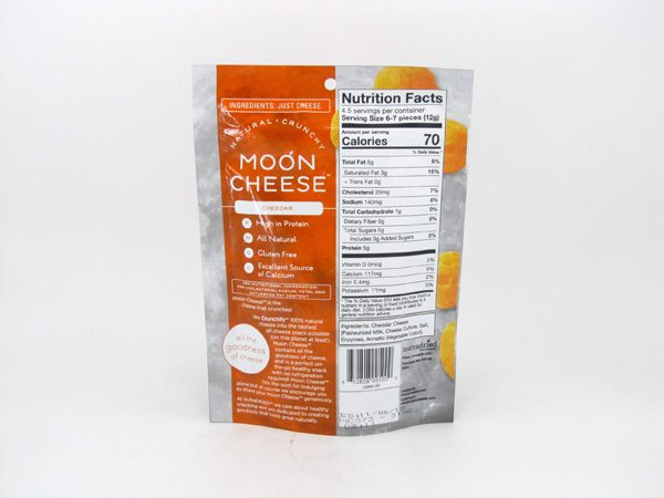 Moon Cheese - Cheddar - back view