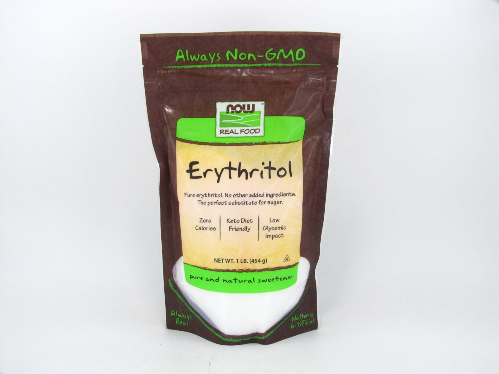 Now - Erythritol (454g) - front view
