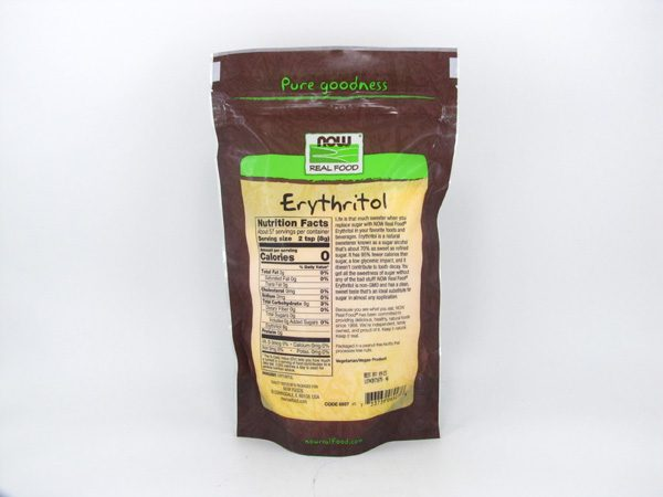 Now - Erythritol (454g) - back view