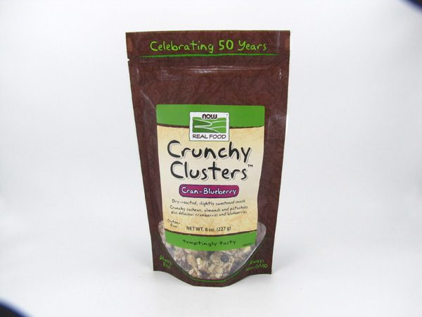 Now Crunchy Cluster Granola - Cran-Blueberry - front view