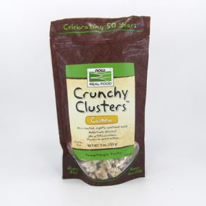 Now Crunchy Cluster Granola - Cashew - front view