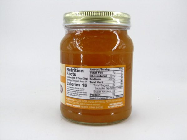 Nature's Hollow Jam - Apricot - back view