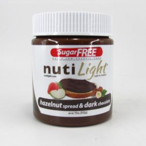 Nuti light - Hazelnut Spread & Dark Chocolate - front view