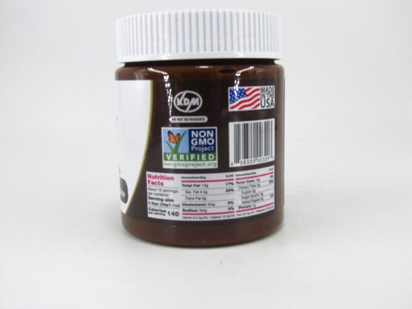 Nuti light - Hazelnut Spread & Dark Chocolate - back view