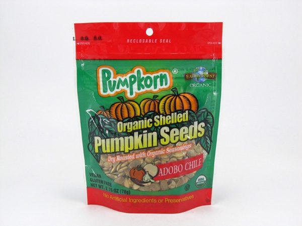Pumpkorn Pumpkin Seeds - Adobo Chilli - front view