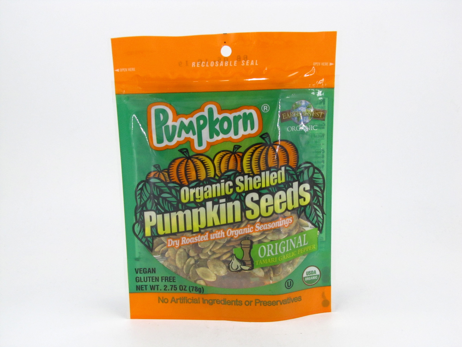 Pumpkorn Pumpkin Seeds - Original - front view