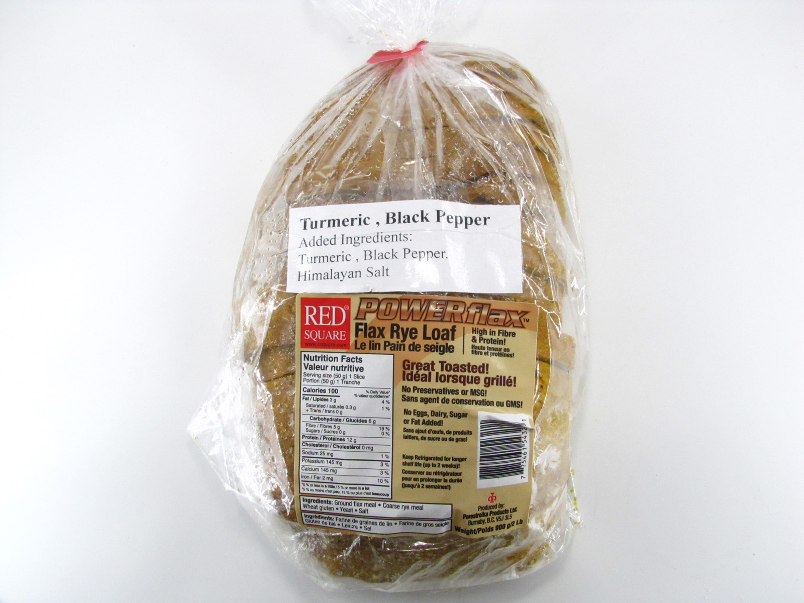 Powerflax - Turmeric, Black Pepper Bread - front view