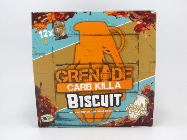 Grenade Carb Killa Biscuit - Salted Caramel Box of 12 - front view