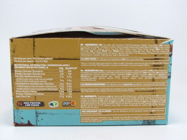 Grenade Carb Killa Biscuit - Salted Caramel Box of 12 - back view