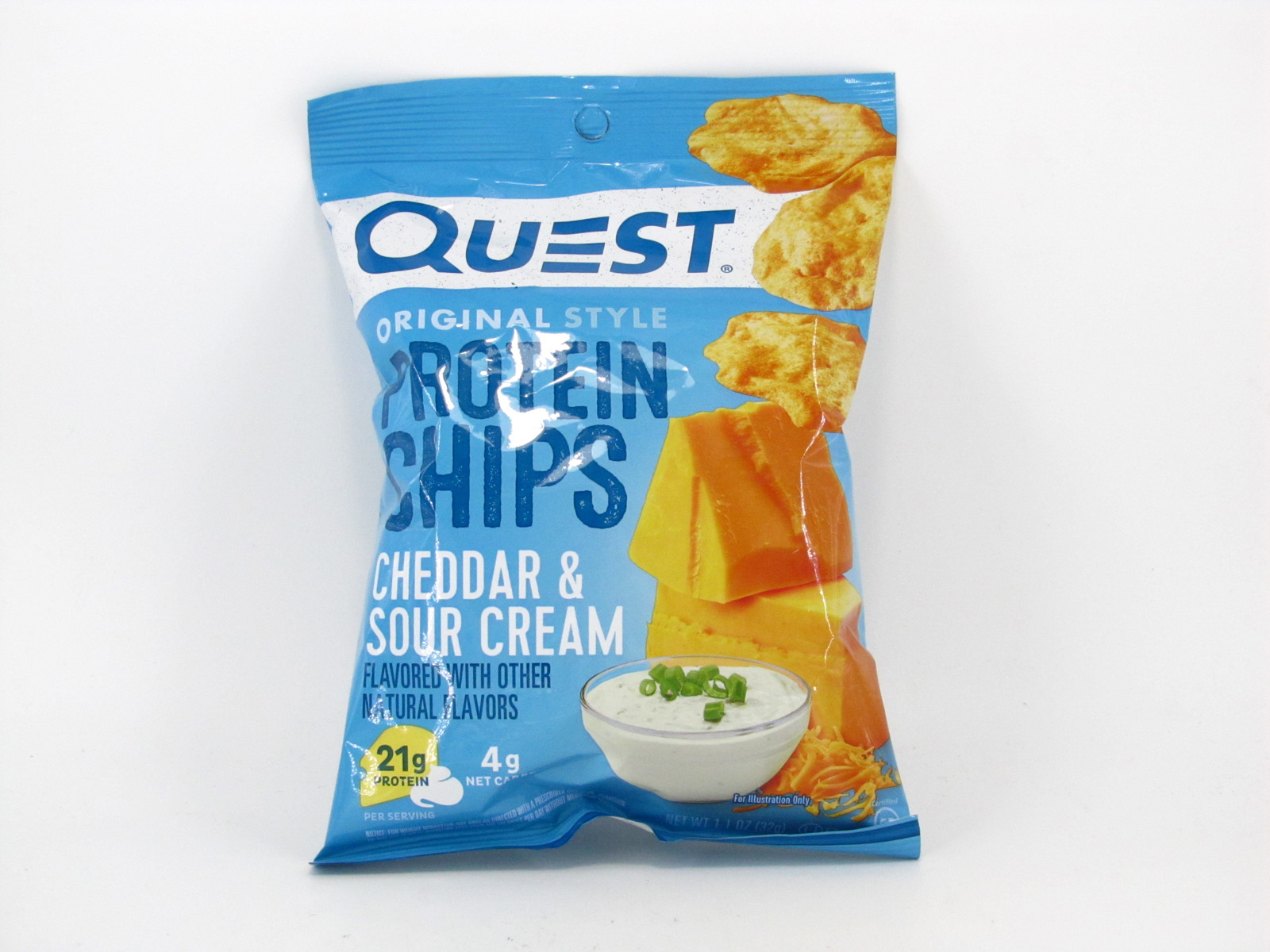 Quest Protein Chips - Cheddar & Sour Cream - front view