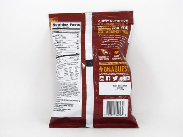 Quest Protein Chips - BBQ - back view