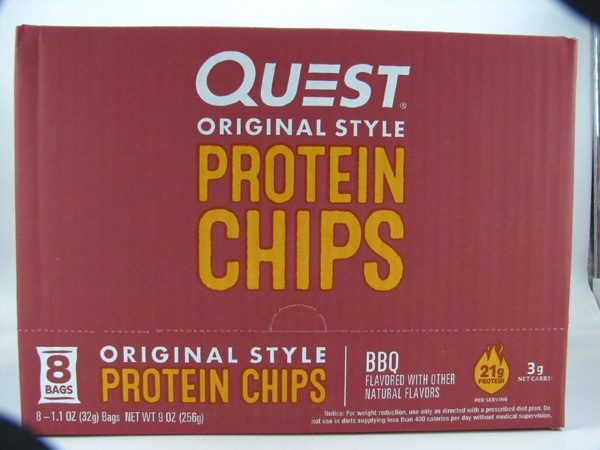 Quest Protein Chips - BBQ Box of 8 - front view
