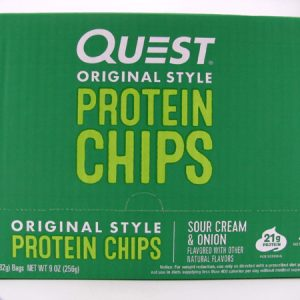 Quest Protein Chips - Sour Cream & Onion Box of 8 - front view