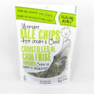 Kale Chips - Hemp Cream & Chives - front view