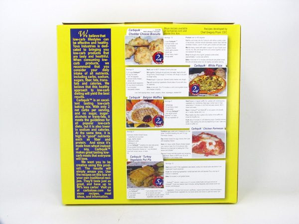 Carbquik - Complete Biscuit and Baking Mix - back view