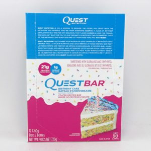 Quest Protein Bar - Birthday Cake Box of 12 - front view