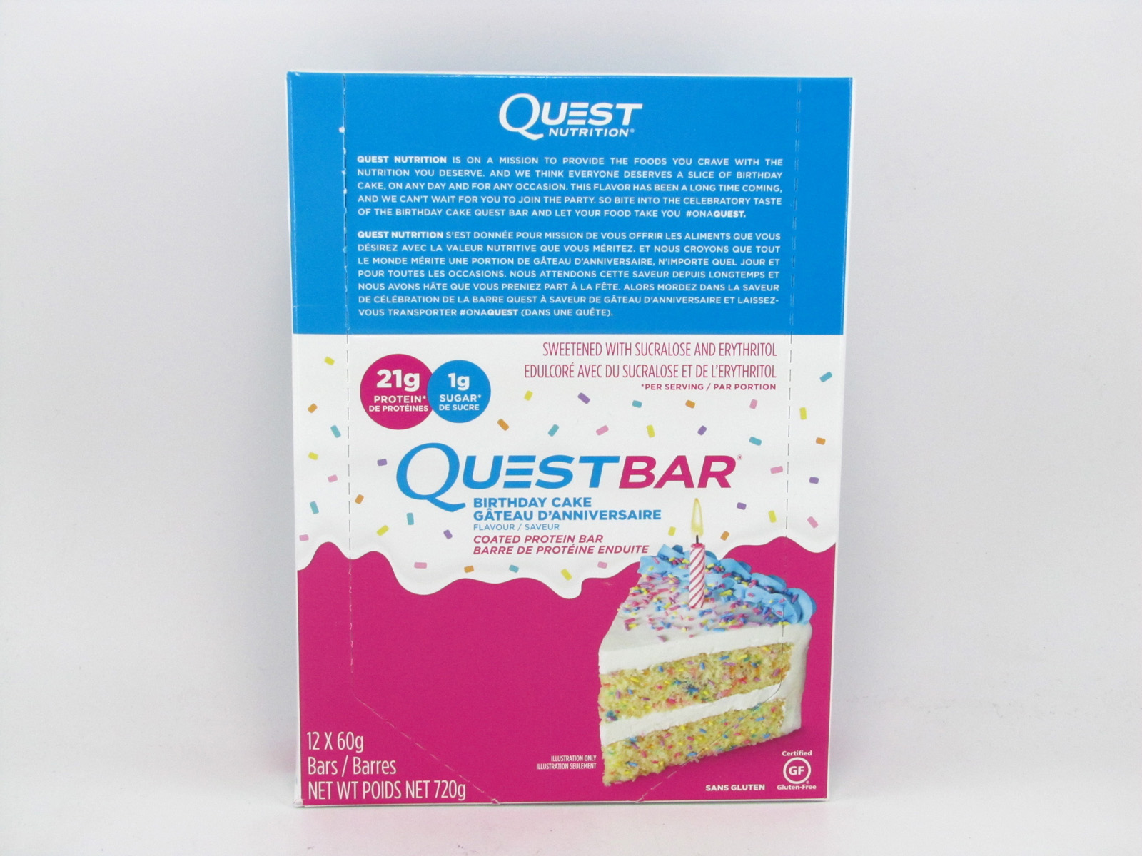 Incredible Quest Protein Bar Birthday Cake Box Of 12 Ontario Nutrition Funny Birthday Cards Online Inifofree Goldxyz