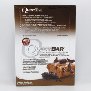 Quest Protein Bar - Chocolate Chip Cookie Dough Box of 12 - front view