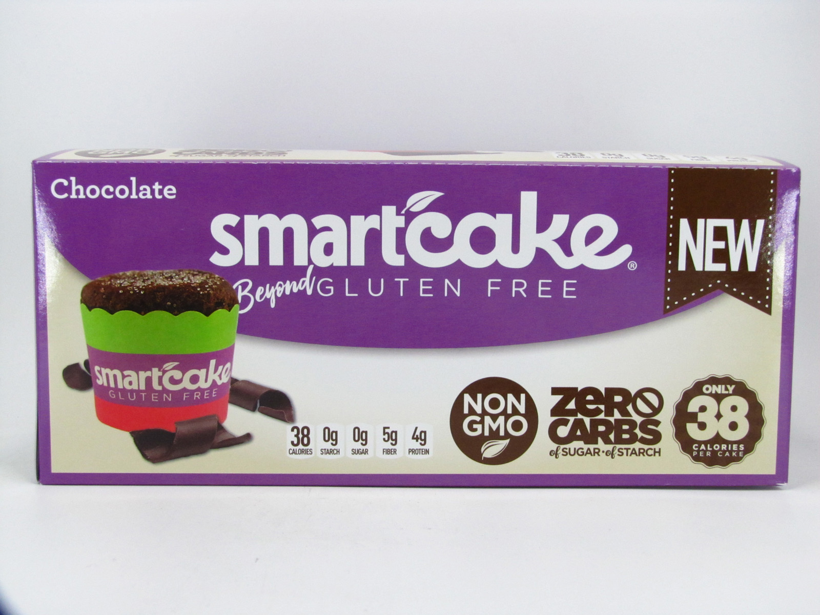 Smart Cake - Chocolate Box of 8 - front view