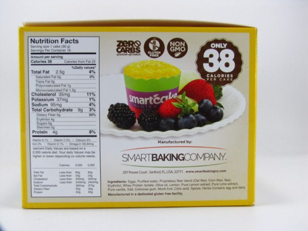 Smart Cake - Lemon Box of 8 - side view