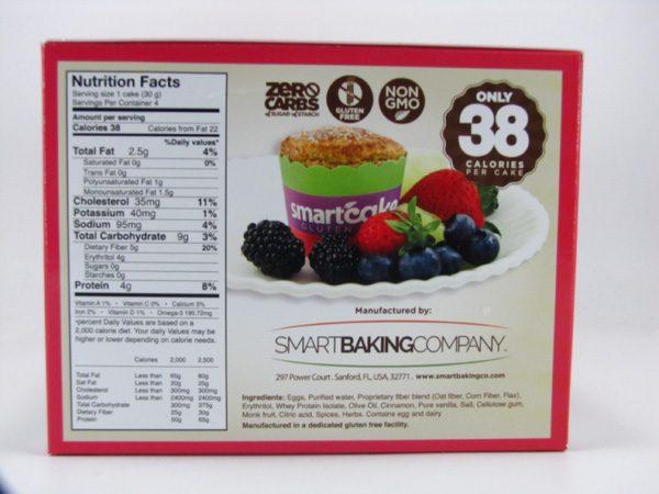 Smart Cake - Cinnamon Box of 8 - side view