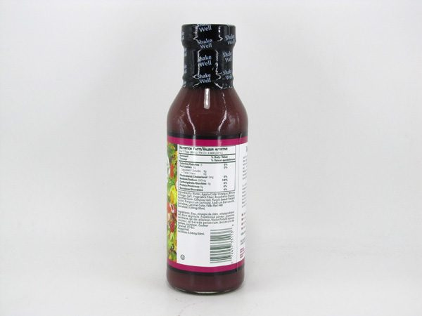Waldenfarms Salad Dressings - Raspberry Vinaigrette - back view