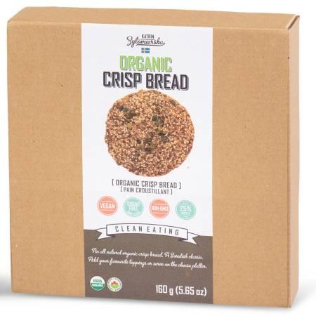 KZ Clean Eating Organic Crispbread Pumpkin Seeds 160g