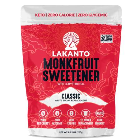Lakanto Monk Fruit Keto Sweetener With Erythritol 235g