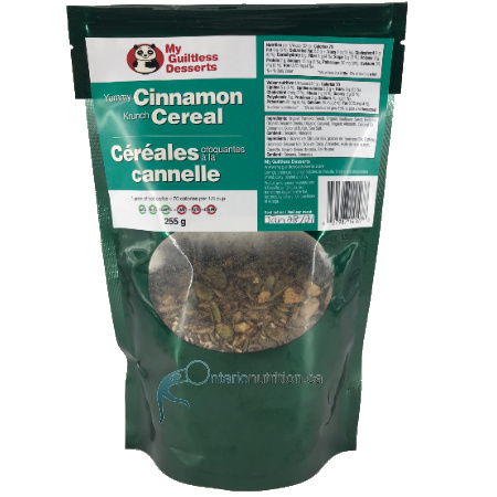 My Guiltless Dessert Yummy Cinnamon Krunch Cereal 255g is suitable for phase 1 and 2. My Guiltless Dessert Yummy Cinnamon Krunch Cereal Are: LOW CARB NON GMO SOY FREE DAIRY FREE KETOGENIC, PALEO AND DIABETIC FRIENDLY