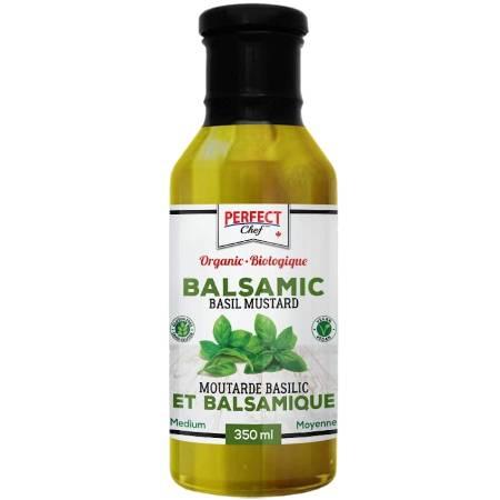 Perfect Chef Organic Balsamic Basil Mustard 350ml