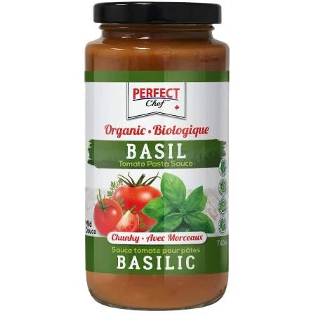 Perfect Chef Organic Basil Pasta Sauce 740ml