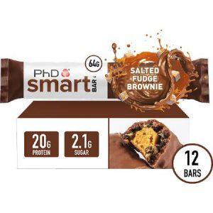 PhD Performance Nutrition Smart Bar Salted Fudge Brownie Box of 12 Bars