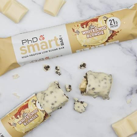 PhD Performance Nutrition Smart Bar White Chocolate Blondie Box of 12 Bars