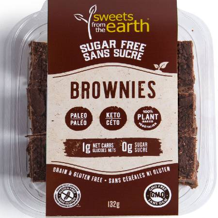 Sweets From The Earth Sugar Free Brownies 132g, The Best and The Tastiest Sugar Free Brownies. Sweets From The Earth Sugar Free Brownies 132g is suitable for phase 1 and 2.