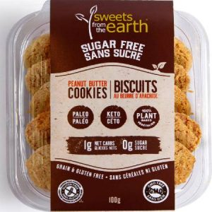 Sweets From The Earth Sugar Free Cookies Peanut Butter 100g, The Best and The Tastiest Sugar Free Cookies. Sweets From The Earth Sugar Free Cookies Peanut Butter 100g is suitable for phase 1 and 2.