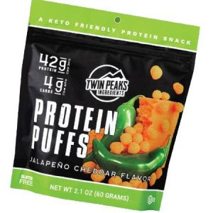 Twin Peaks Protein Puffs Jalapeno Cheddar Flavor 60g
