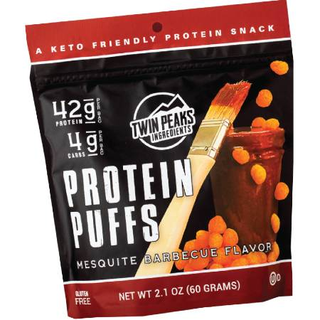 Twin Peaks Protein Puffs Mesquite Barbecue Flavor 60g