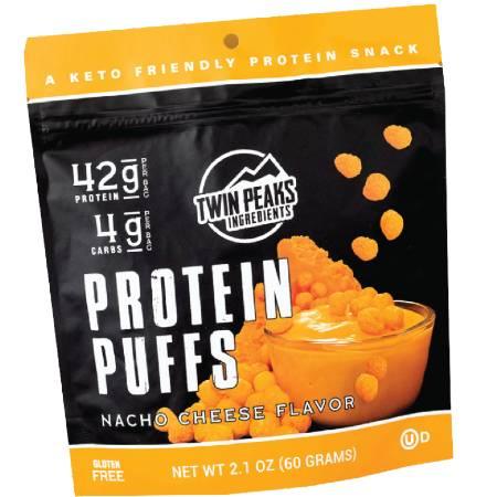 Twin Peaks Protein Puffs Nacho Cheese Flavors 60g