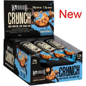 Warrior Crunch Protein Bar Chocolate Chip Cookie Dough Box of 12 Bars