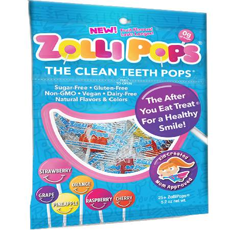 Zollipops Sugar Free Lollipops Variety Pack Clean The Teeth Pops 52oz, is suitable for phase 1 and 2